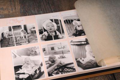Der Start für den Blog: Ein Fotoalbum mit Kinderbilder von Katrin Hegewald -