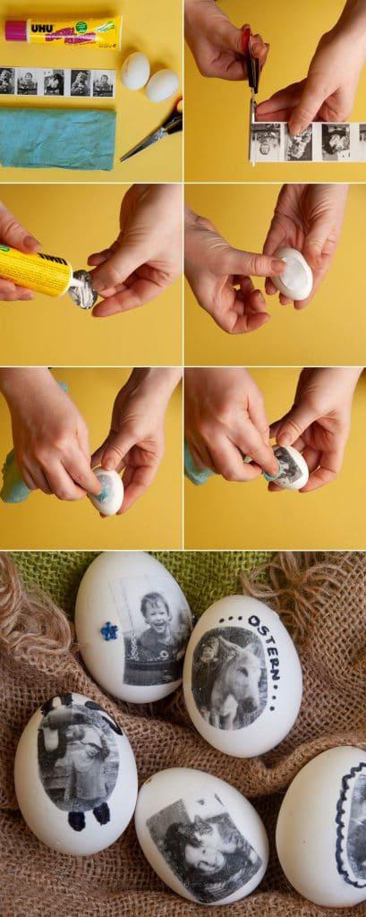 Ostern basteln mit Fotos - DIY