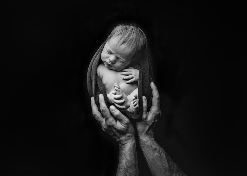 Babyfoto Dresden mit Papa