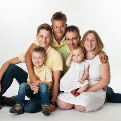 Familienfotograf Dresden im Fotostudio
