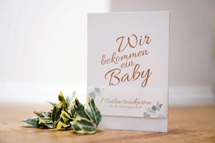 Meilensteinkarten Schwangerschaft